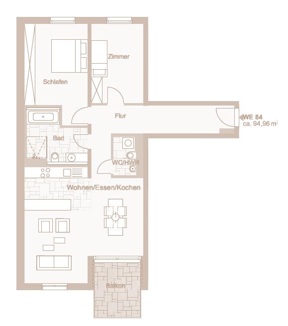 Wohnung 84